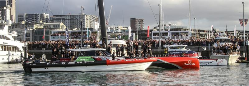 Emirates Team NZ returns to base - America's Cup - Day 7 - March 17, 2021, Course A - photo © Richard Gladwell / Sail-World.com