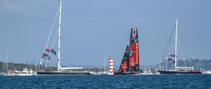 Sailing to victory Emirates Team NZ - America's Cup - Day 7 - March 17, 2021, Course A - photo © Richard Gladwell / Sail-World.com