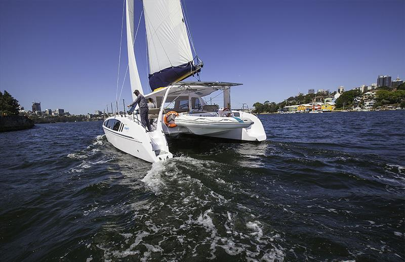 The Seawind 1260 clips along nicely. - photo © John Curnow