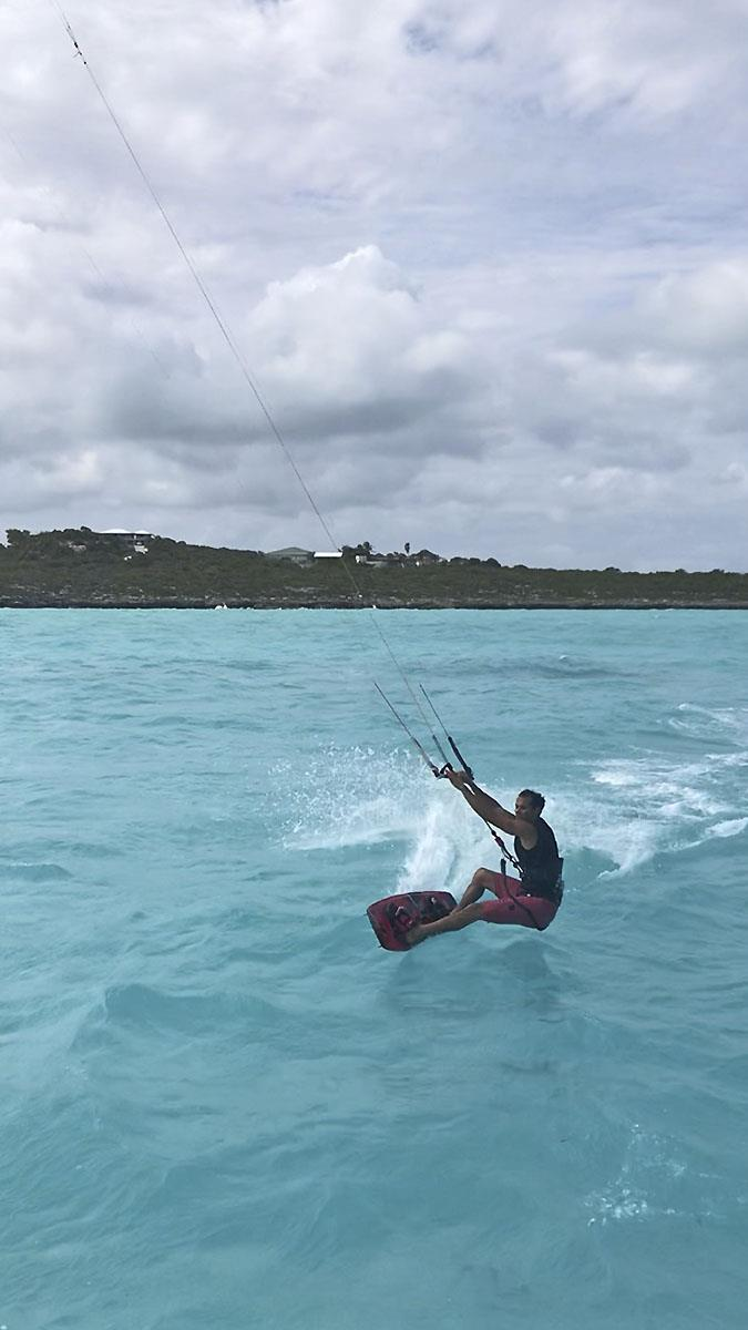 Kite surfer Dave Serrano in 'Disneyland' at the Turks and Ciacos Group. - photo © Jason Chipp