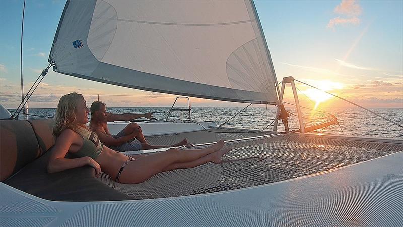 Jessie Jackson taking in the cruise of a lifetime. - photo © Jason Chipp