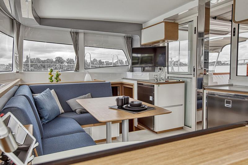 The famed Nauta Design have created the interior spaces for Excess - Main Saloon Excess 12 - photo © Christophe Launay