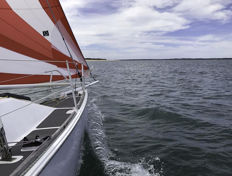 Even a cruise can go better with the A-Sail up! - photo © John Curnow