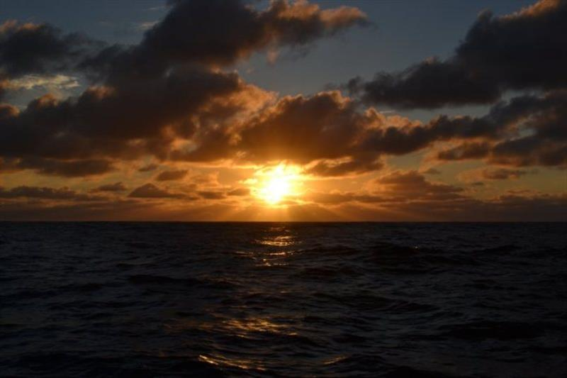 Sunset first night on Bay of Biscay - photo © SV Red Roo
