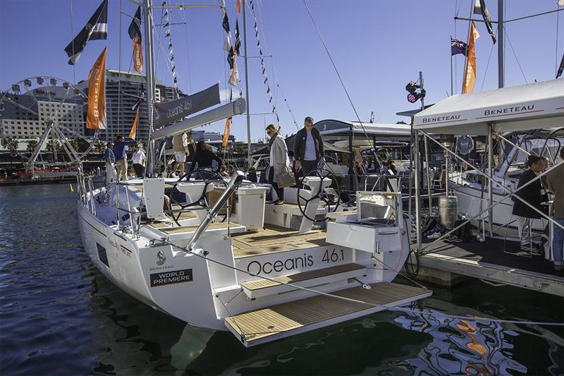 Beneteau had the World Premiere of the highly anticipated Oceanis 46.1. This craft is literally bristling with ideas. - photo © John Curnow