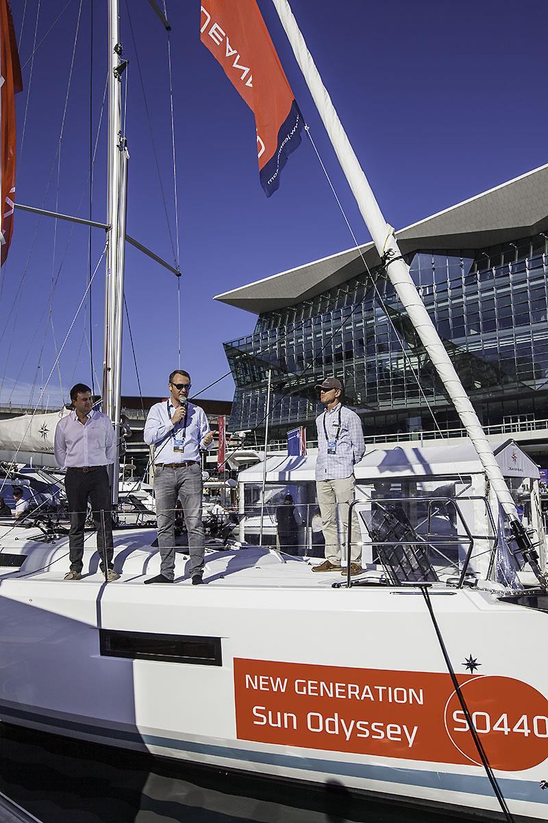 Antoine Chancelier, Jeanneau Sail Boat Product Development Manager, talks all things Jeanneau during the Sydney International Boat Show - photo © John Curnow