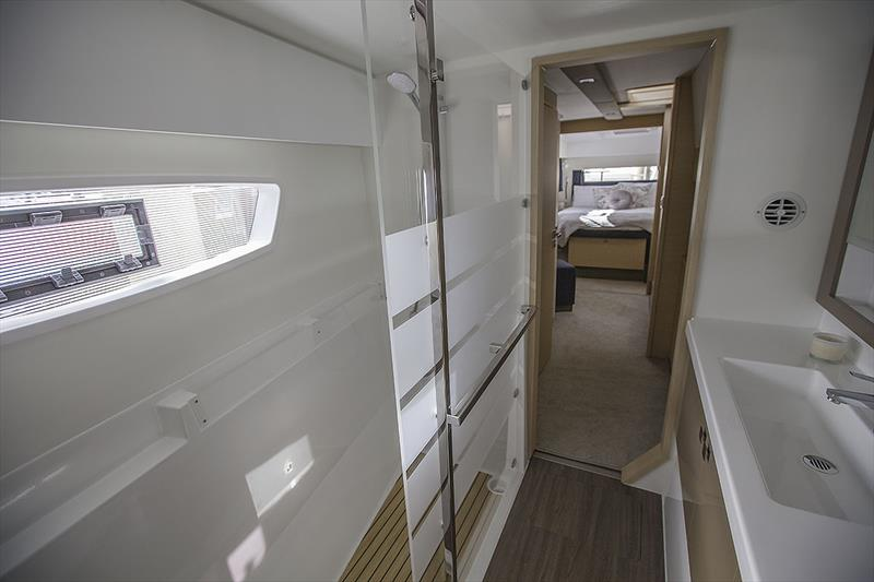 Normally not one to wax on about heads, but the one in Owner's Hull of the Fountaine Pajot Astrea 42 is exemplary! A true benchmark for craft even way bigger than itself... - photo © John Curnow