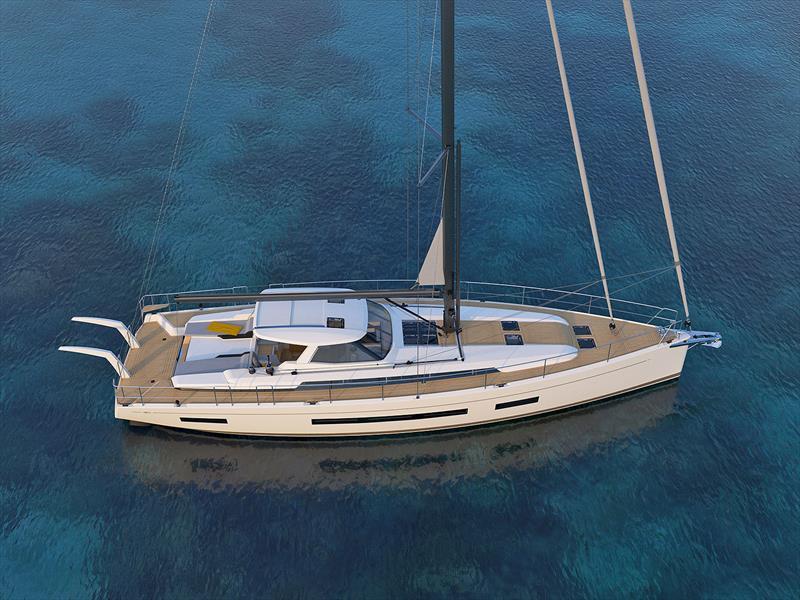 The new Amel 60 at anchor - photo © Amel