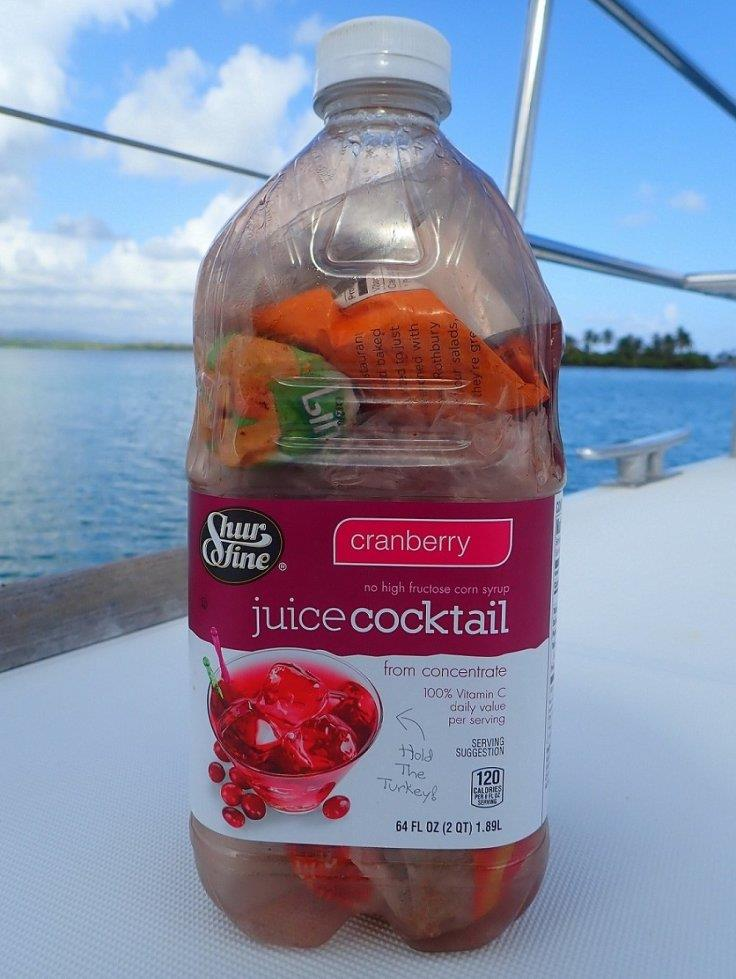 A plastic bottle like this one makes a great container for putting all other plastic waste in - photo © Jenevora Swann