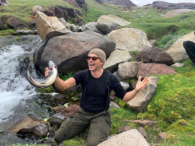 Ingrid Sluggard Myklebust simply said of this image - fishing euphoria. So it is. So it is... - photo © Jon Petter Slungaard Myklebust