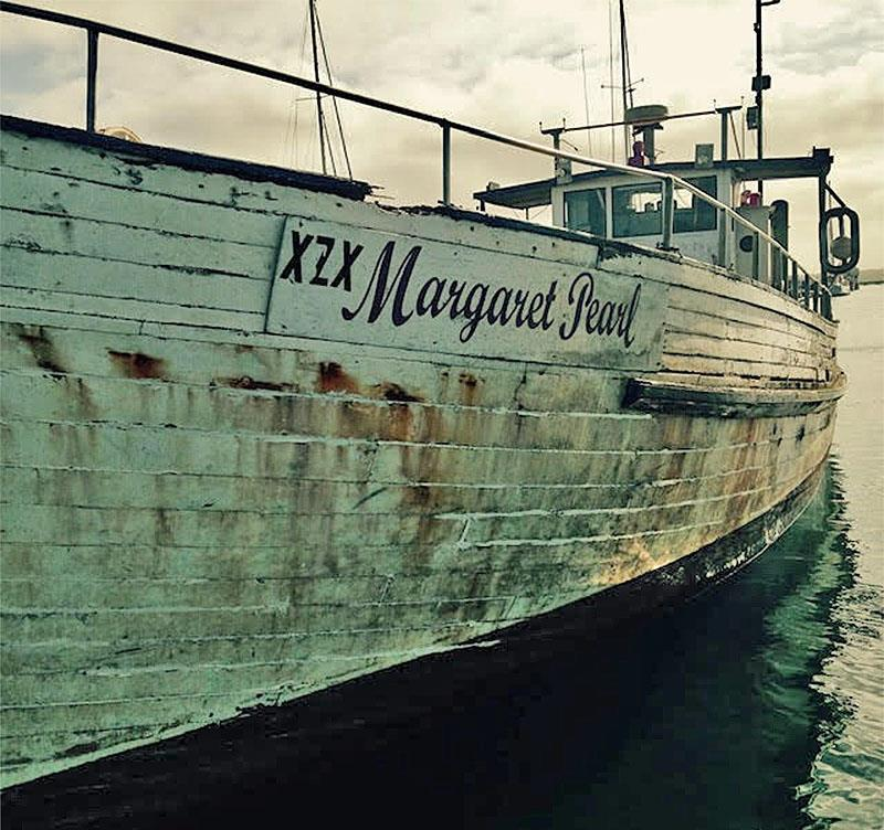Margaret pearl before the work began. - photo © Wooden Boat Shop