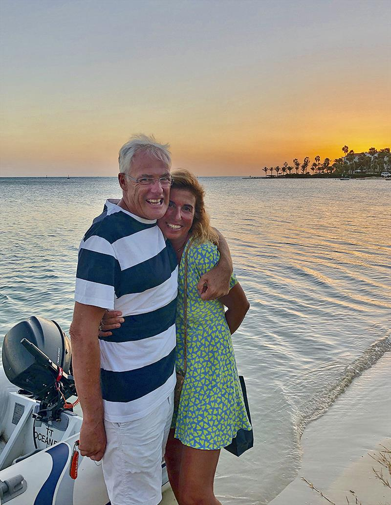 Simon and Carla enjoying each others' company and their new lifestyle. photo copyright Sailing Ocean Fox taken at  and featuring the Cruising Yacht class