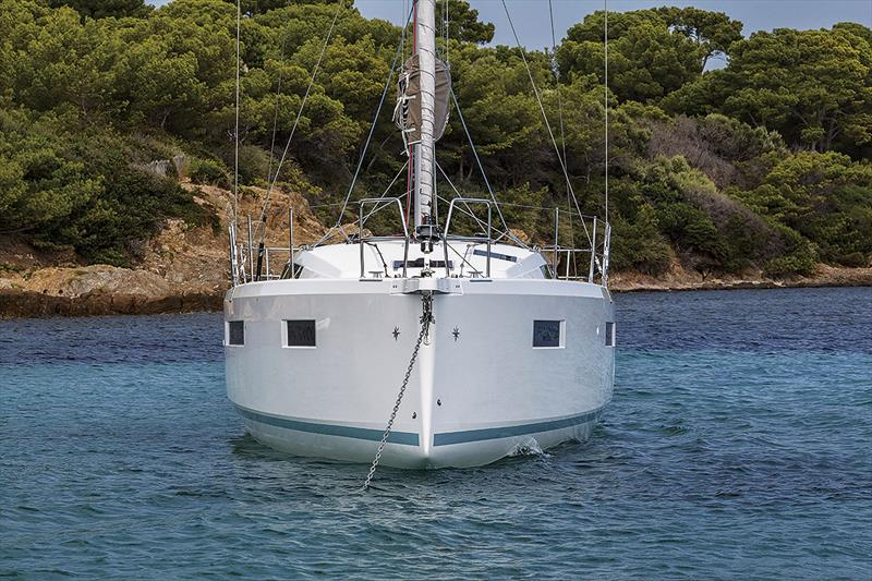Note the chine, chamfer, and knuckle of the new Jeanneau Sun Odyssey 410 - photo © Guillaume Gauter