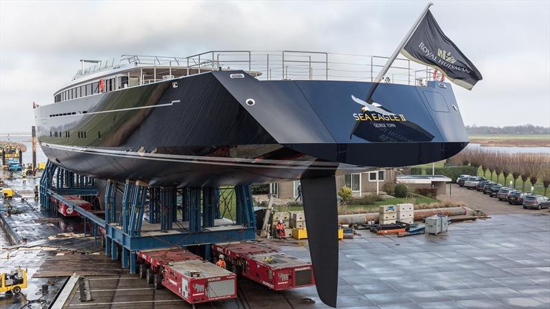 Royal Huisman project 400 - Sea Eagle II - photo © Priska vdrr Meulen