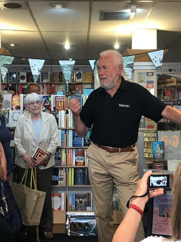 Sir Robin Knox-Johnston talking at Falmouth Bookseller during the Knox-Johnston on Seamanship & Seafaring launch - photo © Jeremy Atkins
