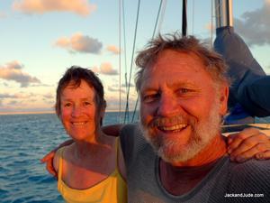 Jack and Jude aboard the SY Banyandah - Exploring the Coral Sea - photo © Jack Binder