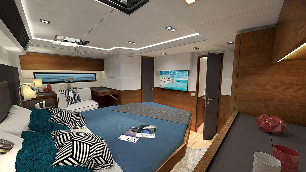 Full beam Owner's Stateroom is aft in the Amel 50 and spacious! - photo © Amel http://www.amel.fr
